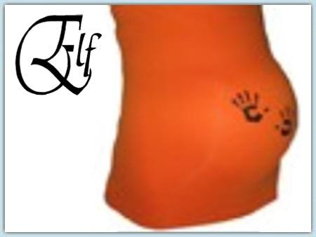 Elf Bauchband-  Hände orange