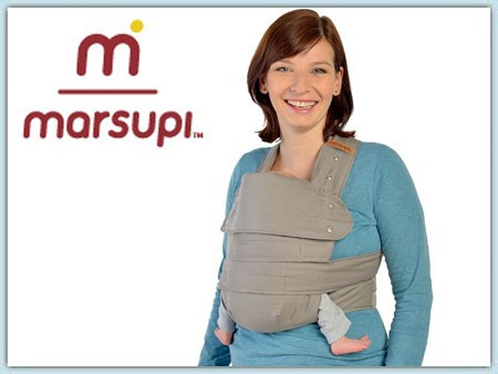 Marsupi Breeze Babytrage - hellgrau