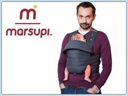 Marsupi Classic Babytrage - grey