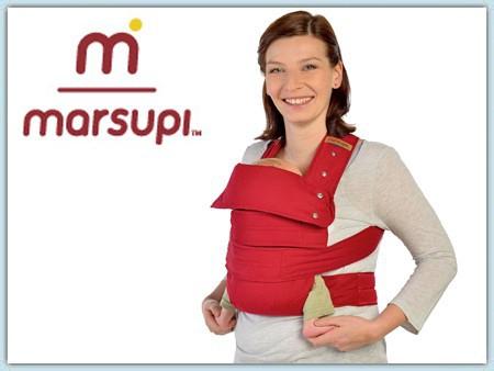 Marsupi Classic Babytrage - rubinrot - gebraucht
