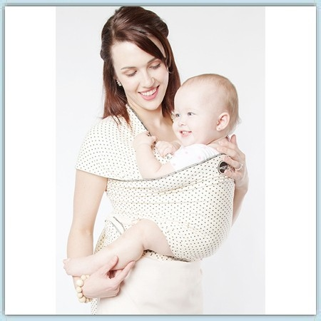 Moby Wrap Design - Black Dots