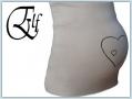 Elf bellybelt - heart gray