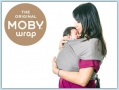 Moby Wrap Bamboo - Grey Stripes